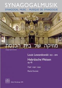 Hebräische Weisen op. 45 Louis Lewandowski Partition laflutedepan