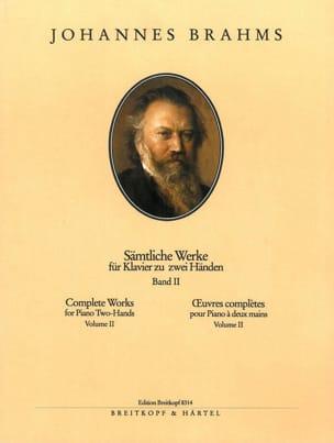 Oeuvres pour piano. Volume 2 BRAHMS Partition Piano - laflutedepan