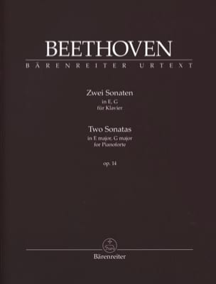 2 Sonates Opus 14 BEETHOVEN Partition Piano - laflutedepan