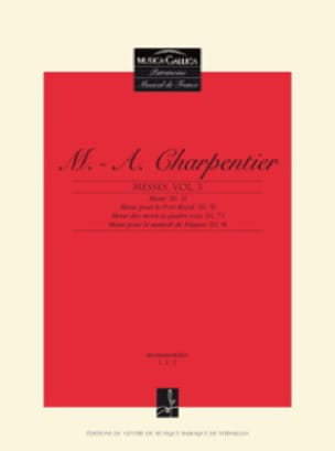 Messes Volume 3 - CHARPENTIER - Partition - Chœur - laflutedepan.com