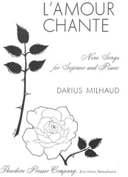 L'amour Chante - MILHAUD - Partition - Mélodies - laflutedepan.com