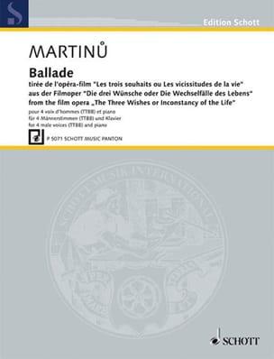 Ballade MARTINU Partition Chœur - laflutedepan