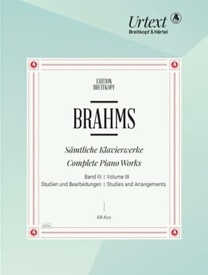 Oeuvres pour piano. Volume 3 BRAHMS Partition Piano - laflutedepan