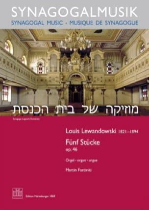 5 Stücke op. 46 - Louis Lewandowski - Partition - laflutedepan.com