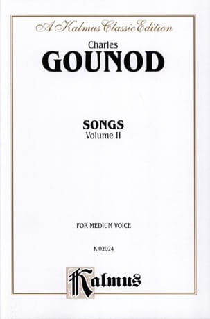 Songs Volume 2. Voix Moyenne GOUNOD Partition Mélodies - laflutedepan