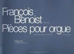 Pièces Pour Orgue. Volume 3 François Benoist Partition laflutedepan