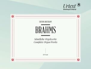 Oeuvres Complètes Orgue BRAHMS Partition Orgue - laflutedepan