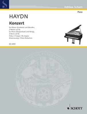 Concerto En Fa Majeur Hob 18-3 HAYDN Partition Piano - laflutedepan