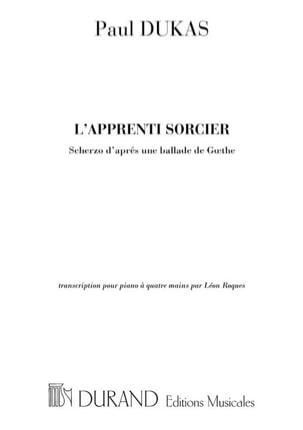 L' Apprenti Sorcier. 4 Mains DUKAS Partition Piano - laflutedepan