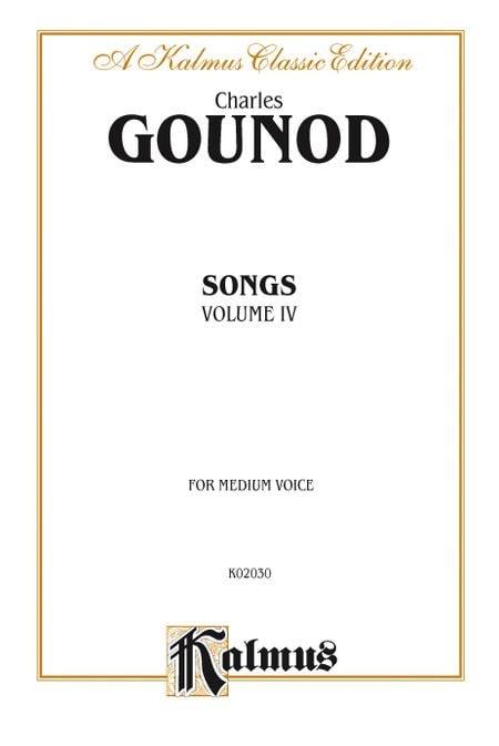 Songs Volume 4. Voix Moyenne - GOUNOD - Partition - laflutedepan.com