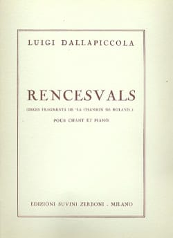 Rencesvals Luigi Dallapiccola Partition Mélodies - laflutedepan