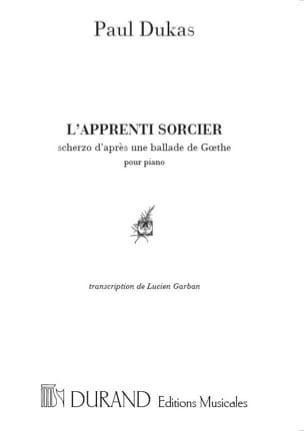 L' Apprenti Sorcier DUKAS Partition Piano - laflutedepan