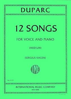 12 Mélodies. Voix Moyenne Henri Duparc Partition laflutedepan