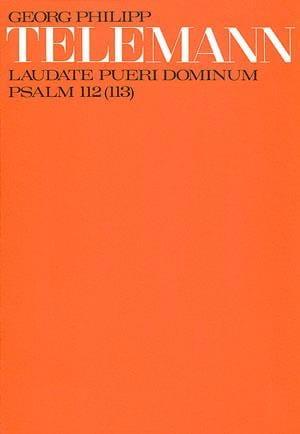 Laudate Pueri Dominum Tvwv 7-26 - TELEMANN - laflutedepan.com