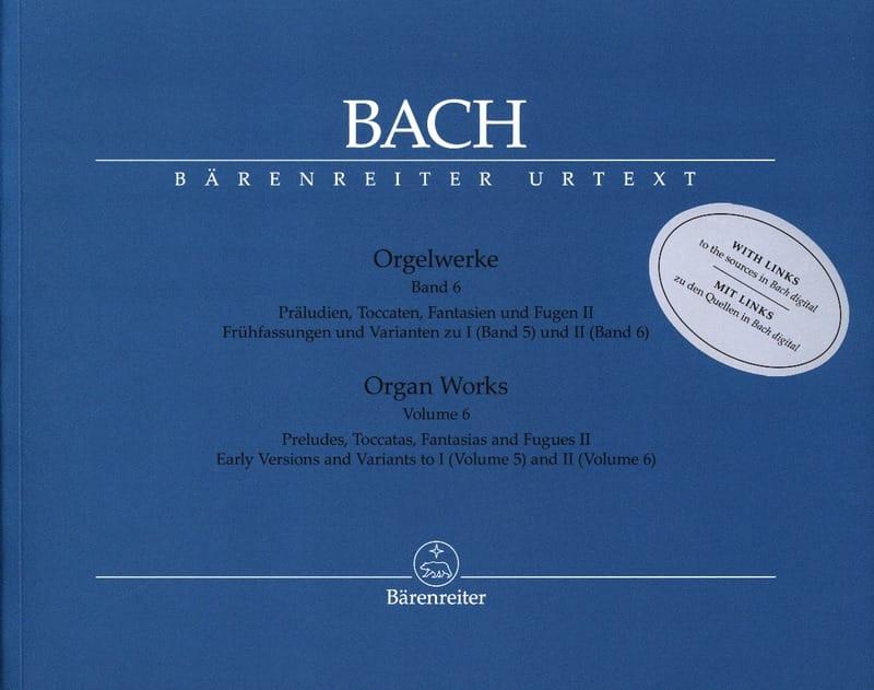 Orgelwerke. Band 6. Edition révisée - BACH - laflutedepan.com