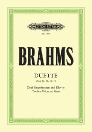 Duette Opus 20, 61, 66, 75 BRAHMS Partition Duos - laflutedepan