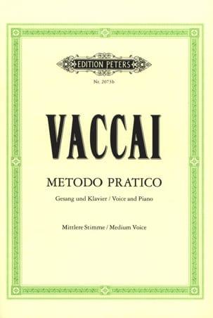 Metodo Pratico Voix Moyenne Nicola Vaccai Partition laflutedepan