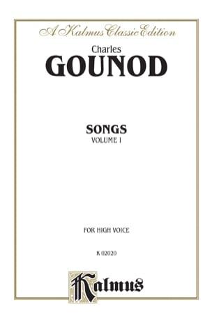 Songs Volume 1. Voix Haute GOUNOD Partition Mélodies - laflutedepan