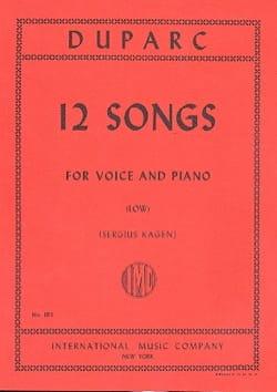 12 Mélodies. Voix Grave Henri Duparc Partition Mélodies - laflutedepan
