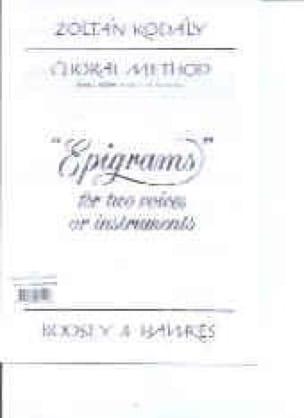 Choral Method Vol 13/2. Epigrams - KODALY - laflutedepan.com