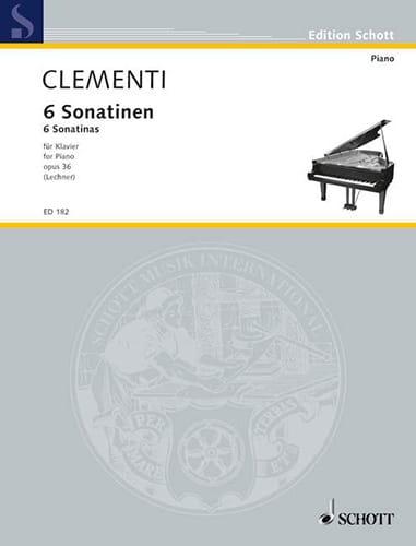 6 Sonatinen, Opus 36 - CLEMENTI - Partition - Piano - laflutedepan.com