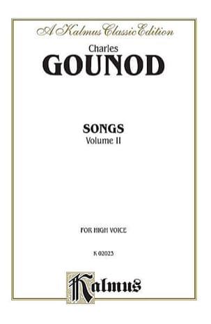 Songs Volume 2. Voix Haute - GOUNOD - Partition - laflutedepan.com