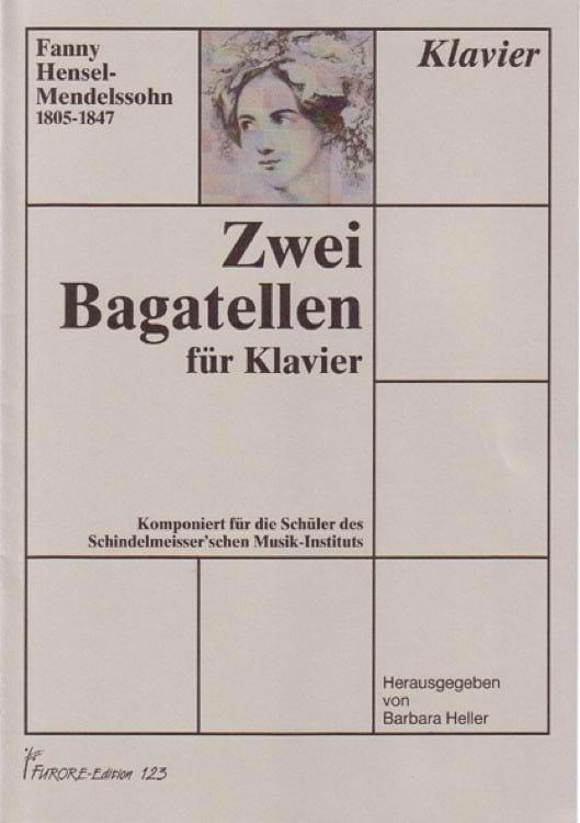 2 Bagatellen - Fanny Hensel-Mendelssohn - Partition - laflutedepan.com