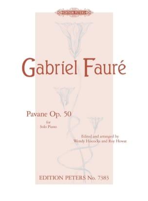 Pavane Opus 50 FAURÉ Partition Piano - laflutedepan