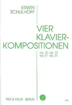 4 Klavierkompositionen Erwin Schulhoff Partition Piano - laflutedepan