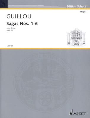 Sagas 1-6 Opus 20 Jean Guillou Partition Orgue - laflutedepan