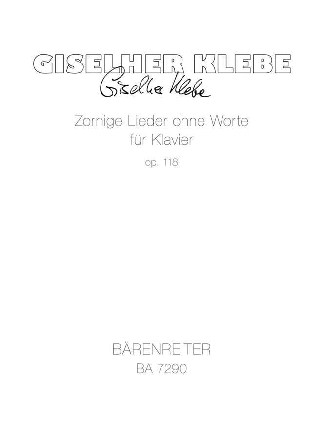 Zornige Lieder Ohne Worte Für Klavier Op. 118 - laflutedepan.com