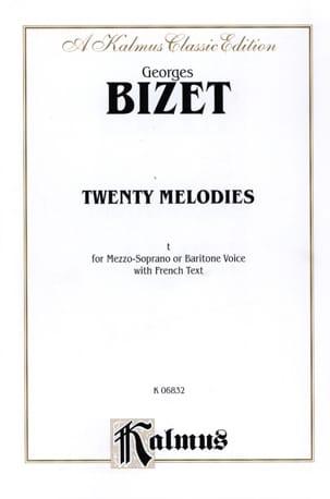 20 Mélodies Opus 21 Mezzo Ou Baryton BIZET Partition laflutedepan