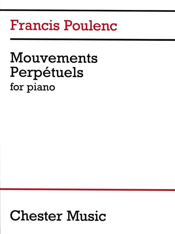 3 Mouvements Perpétuels - POULENC - Partition - laflutedepan.com