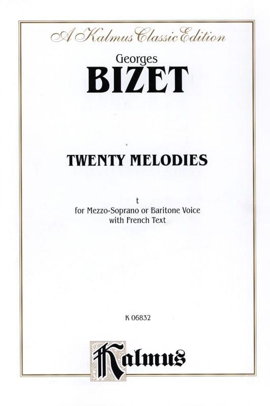 20 Mélodies Opus 21 Mezzo Ou Baryton - BIZET - laflutedepan.com