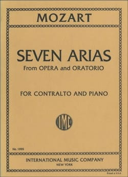 MOZART - 7 Arias From Opera And Oratorio Contralto - Partition - di-arezzo.com