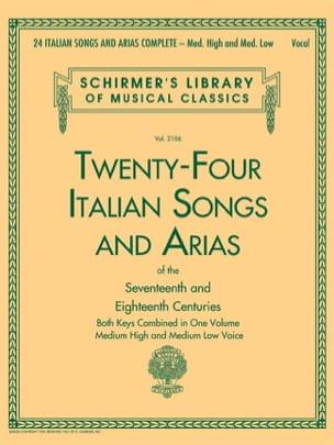 24 italian Songs and Arias. Voix haute et moyenne laflutedepan