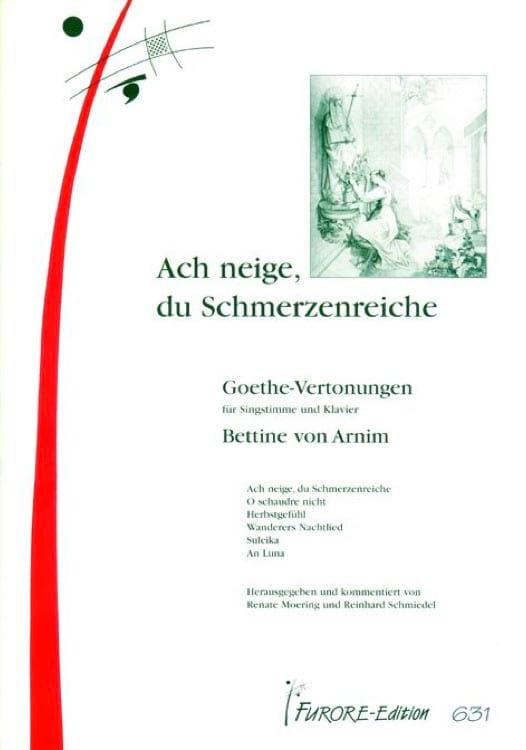 Goethe-vertronungen - Bettine von Arnim - Partition - laflutedepan.com