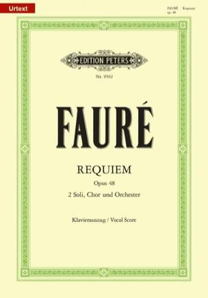 Requiem - Opus 48 FAURÉ Partition Chœur - laflutedepan