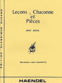 Leçons, Chaconne et Pièces HAENDEL Partition Piano - laflutedepan
