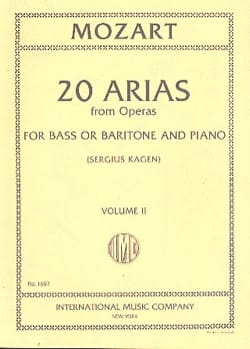 20 Arias From Opera. Volume 2. Baryton Ou Basse MOZART laflutedepan