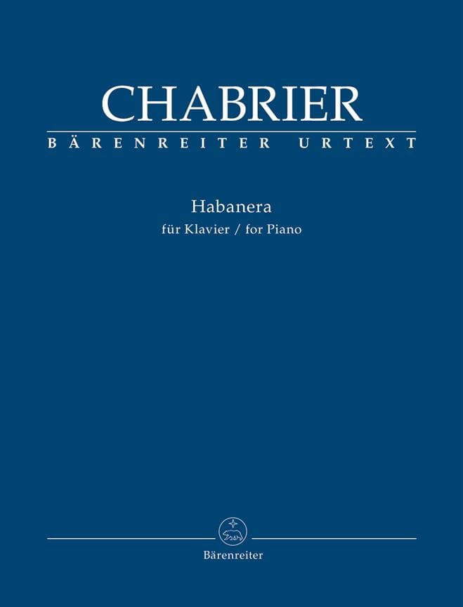 Habanera - CHABRIER - Partition - Piano - laflutedepan.com