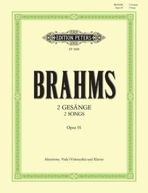 2 Gesänge Opus 91 BRAHMS Partition Alto - laflutedepan