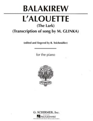L'Alouette (The Lark) Mili Balakirev Partition Piano - laflutedepan