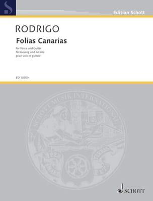 Joaquin Rodrigo - Folias Canarias - Partition - di-arezzo.co.uk