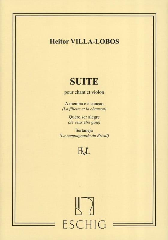 Suite Pour Chant et Violon - VILLA-LOBOS - laflutedepan.com