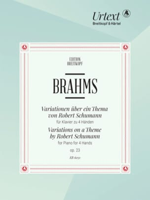 BRAHMS - Variationen Opus 23. 4 Hands - Partition - di-arezzo.co.uk