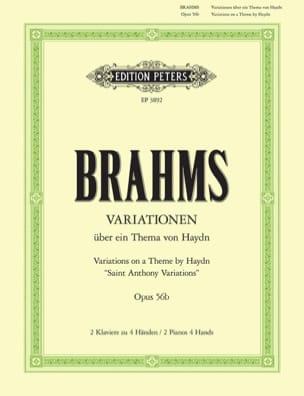 Variations sur 1 Thème de Haydn Opus 56b. 2 Pianos BRAHMS laflutedepan