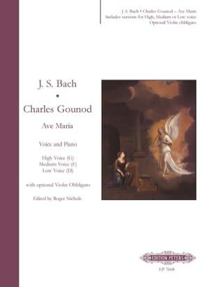 Ave Maria Gounod Charles / Bach Jean-Sébastien Partition laflutedepan