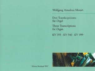 3 Transcriptions Pour Orgue - MOZART - Partition - laflutedepan.com