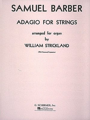 Adagio Opus 11. Orgue - BARBER - Partition - Orgue - laflutedepan.com